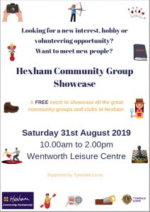 Hexham Community Group Showcase